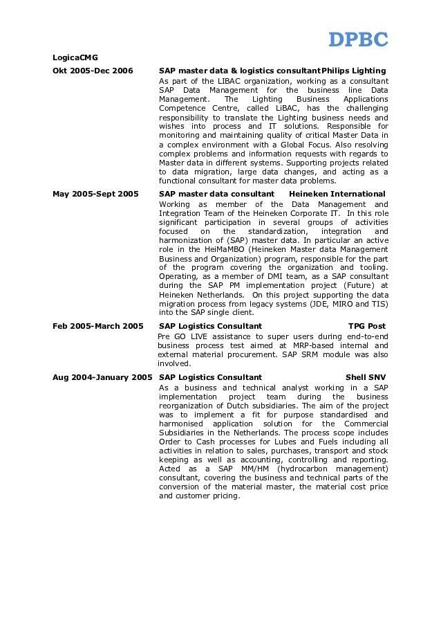 Sap Master Data Resume Professional User Manual Ebooks