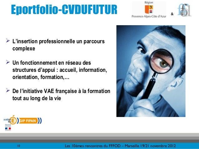 Eportfolio-CVDUFUTUR                                                               & L'insertion professionnelle un parco...