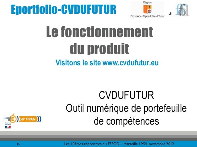 Eportfolio-CVDUFUTUR                                                 &      Le fonctionnement           du produit        ...