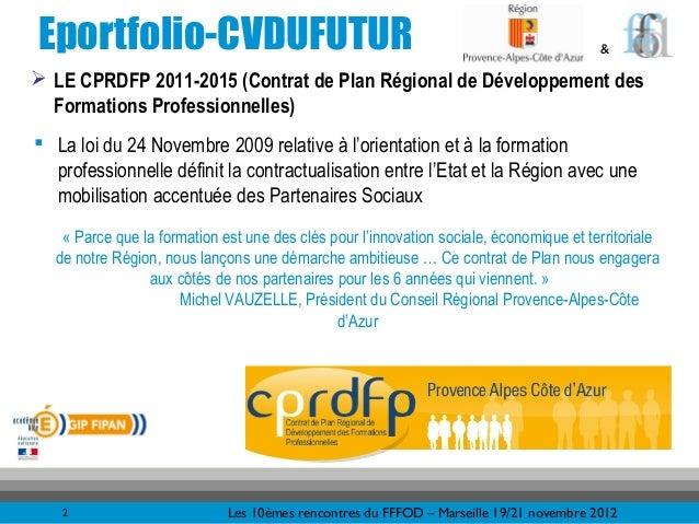 Eportfolio-CVDUFUTUR                                                                    & LE CPRDFP 2011-2015 (Contrat de...