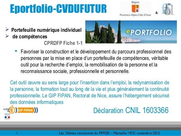 Eportfolio-CVDUFUTUR                                                                & Portefeuille numérique individuel ...