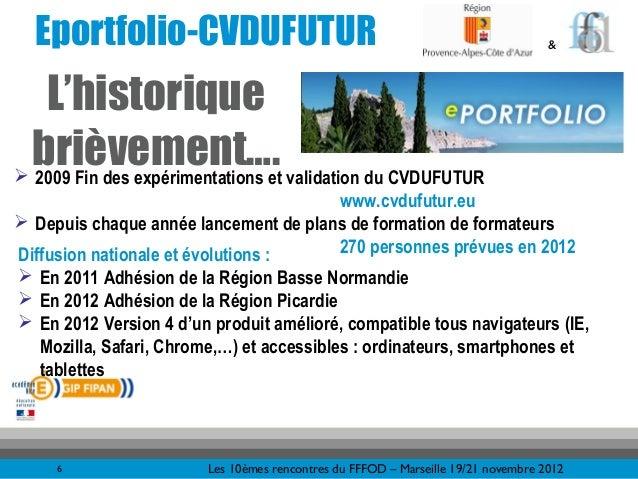 Eportfolio-CVDUFUTUR                                                             &   L'historique brièvement…. validation ...
