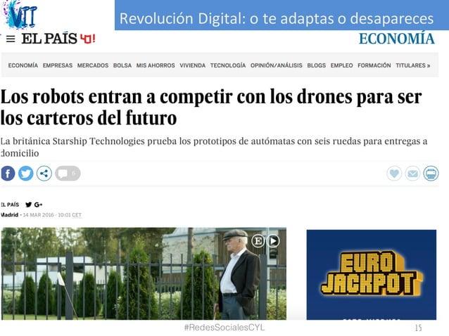 RevoluciónDigital:oteadaptasodesapareces #RedesSocialesCYL 15