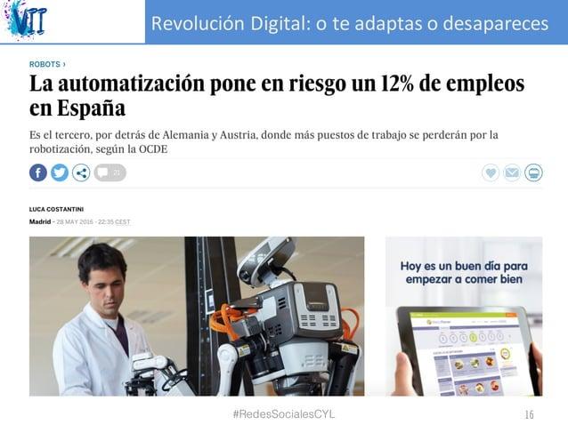 RevoluciónDigital:oteadaptasodesapareces #RedesSocialesCYL 16
