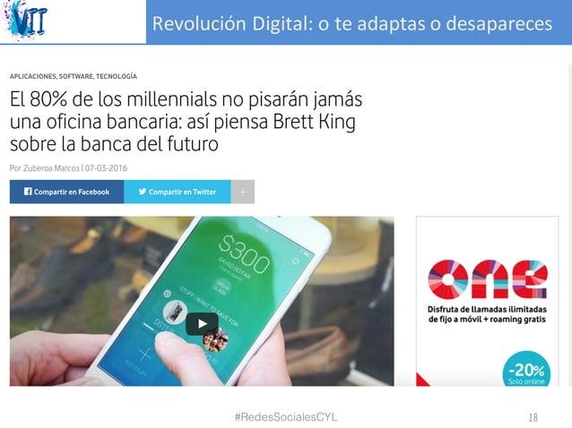 RevoluciónDigital:oteadaptasodesapareces #RedesSocialesCYL 18