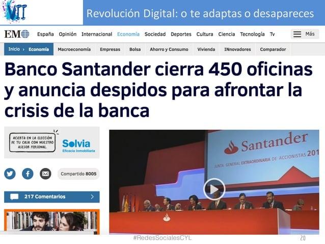 RevoluciónDigital:oteadaptasodesapareces #RedesSocialesCYL 20
