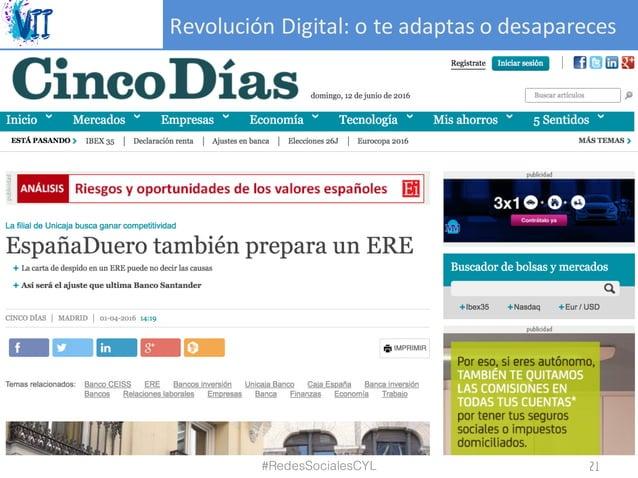 RevoluciónDigital:oteadaptasodesapareces #RedesSocialesCYL 21