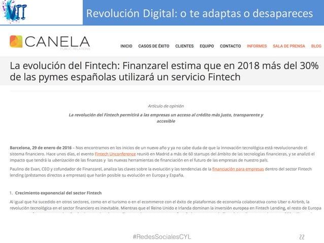 RevoluciónDigital:oteadaptasodesapareces #RedesSocialesCYL 22