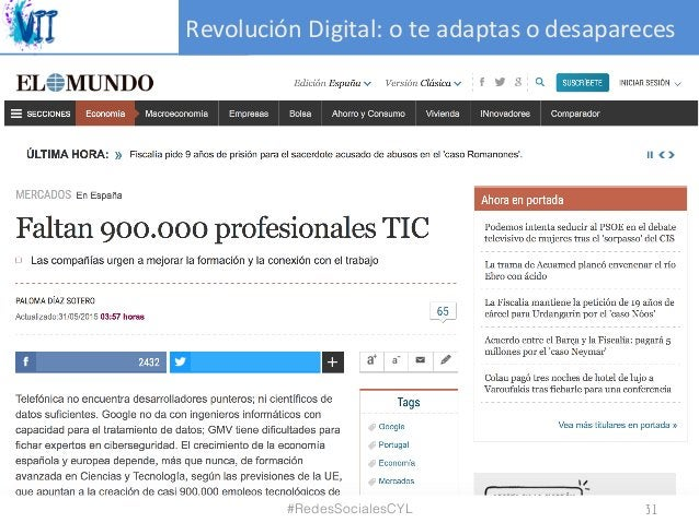 RevoluciónDigital:oteadaptasodesapareces #RedesSocialesCYL 31
