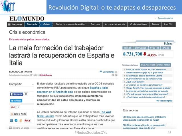 RevoluciónDigital:oteadaptasodesapareces #RedesSocialesCYL 32