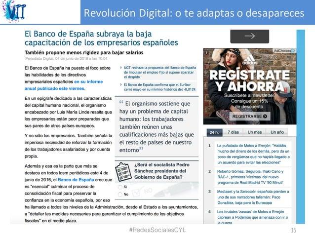 RevoluciónDigital:oteadaptasodesapareces #RedesSocialesCYL 33