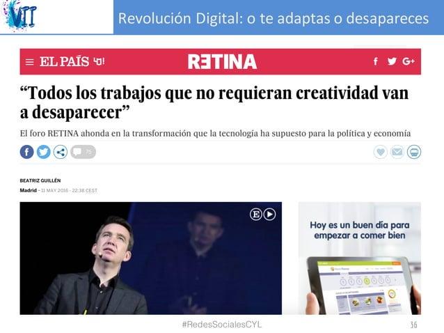 RevoluciónDigital:oteadaptasodesapareces #RedesSocialesCYL 36