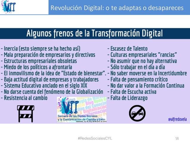 RevoluciónDigital:oteadaptasodesapareces #RedesSocialesCYL 59