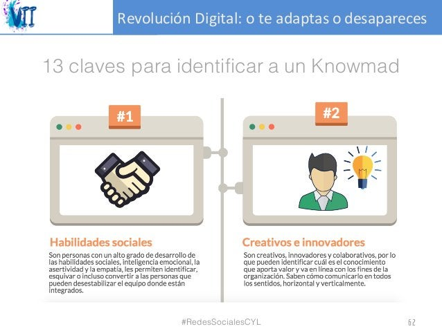 RevoluciónDigital:oteadaptasodesapareces 13 claves para identificar a un Knowmad #RedesSocialesCYL 62