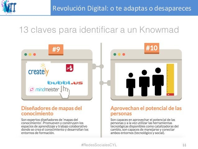 RevoluciónDigital:oteadaptasodesapareces 13 claves para identificar a un Knowmad #RedesSocialesCYL 66