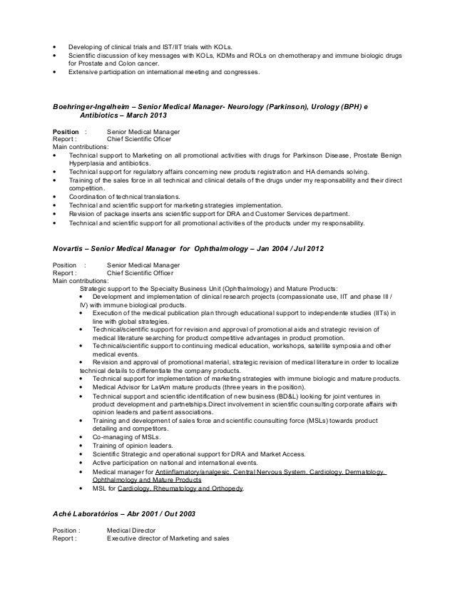 medical science liaison resume twnctry