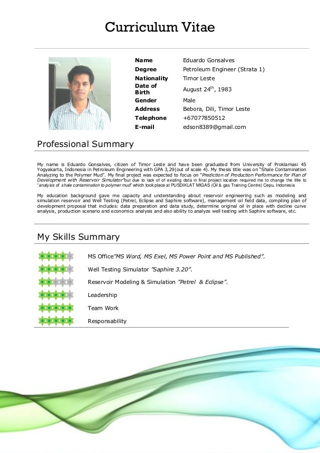 Usa Resume Format - Resume Template Easy - http://www.123easyessays.com