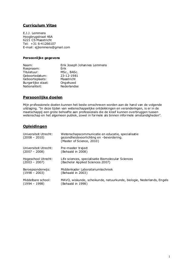 CV EJJ Lemmens