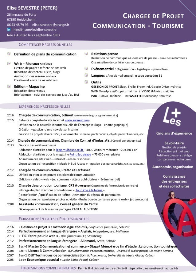 cv charg u00e3 u00a9 de communication web  u2014 dans l hair du temps