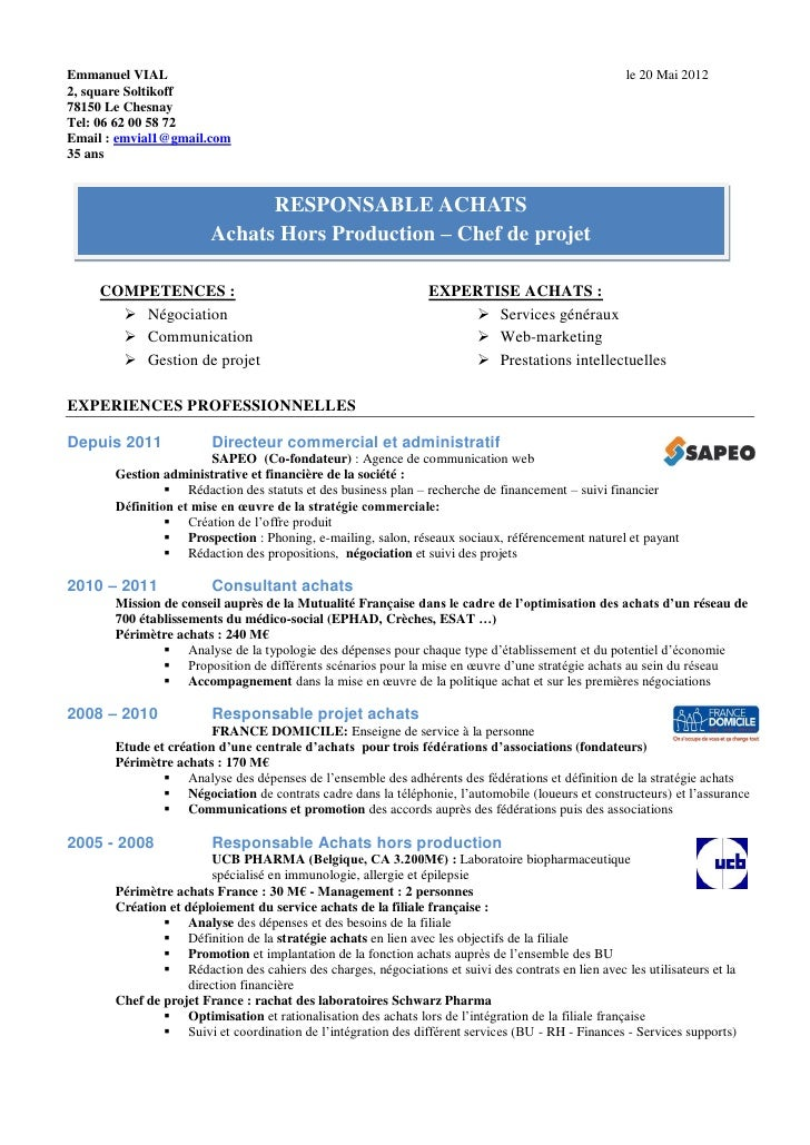 exemple de cv gerant de restauration collective