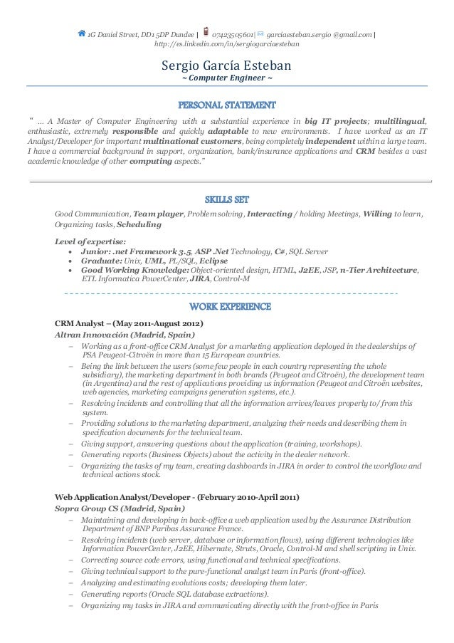 cv  english version
