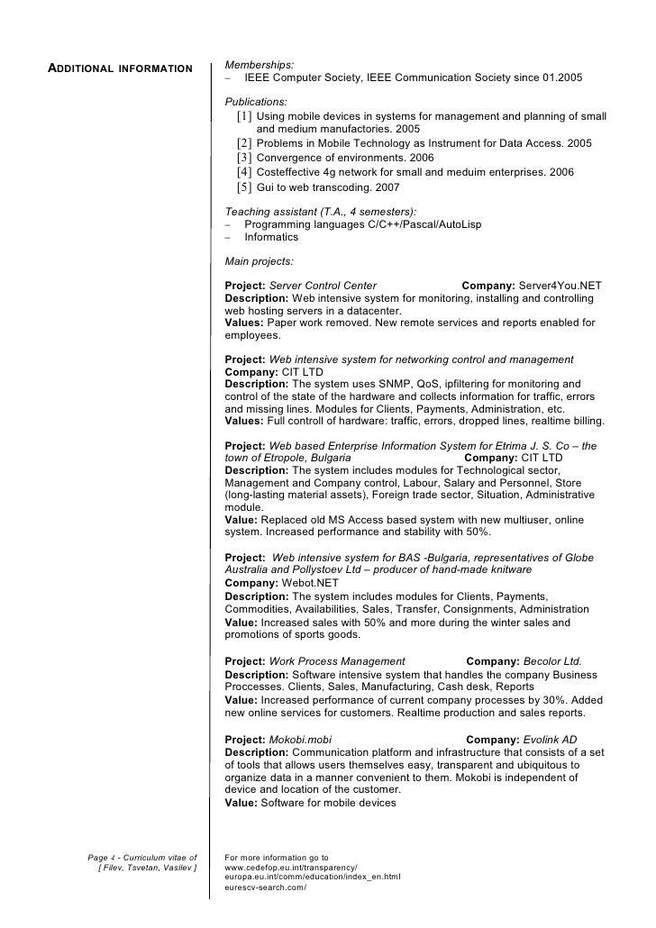 Current General CV