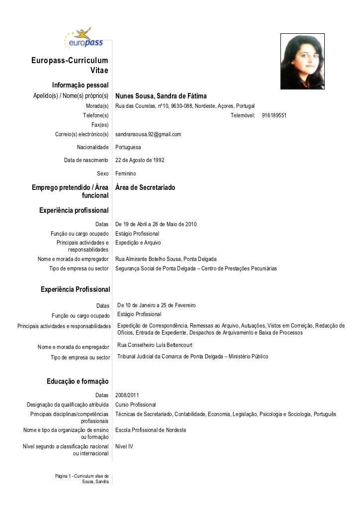 europass curriculum