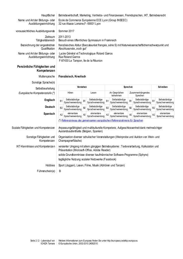 cv europassde allemand ichiza tamara