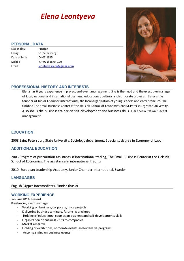 bold design resume cv example 14 sample curriculum vitae for. sample ...