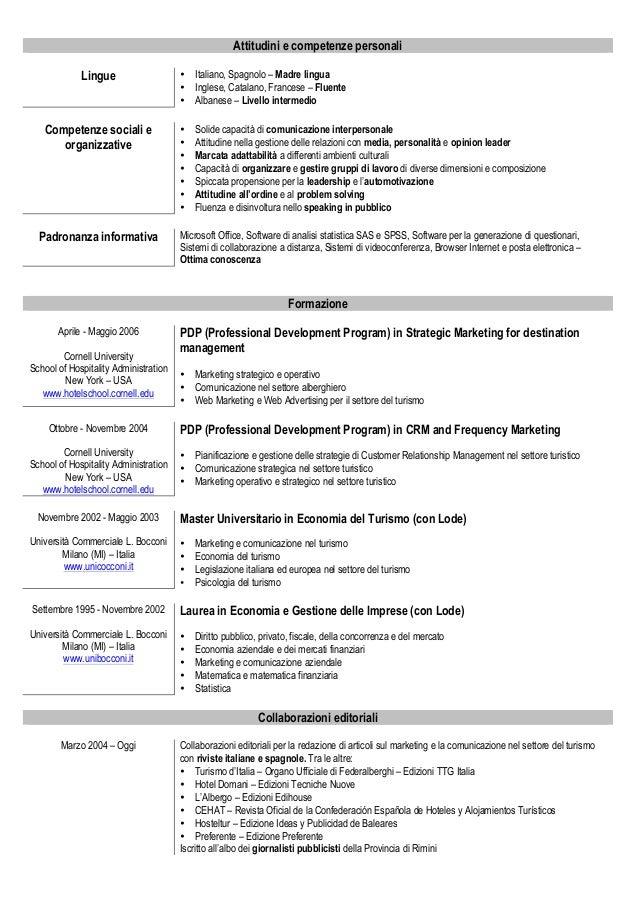 Curriculum Vitae Modello Francese Firmakoek