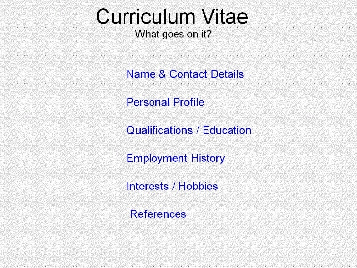 what goes on a cv