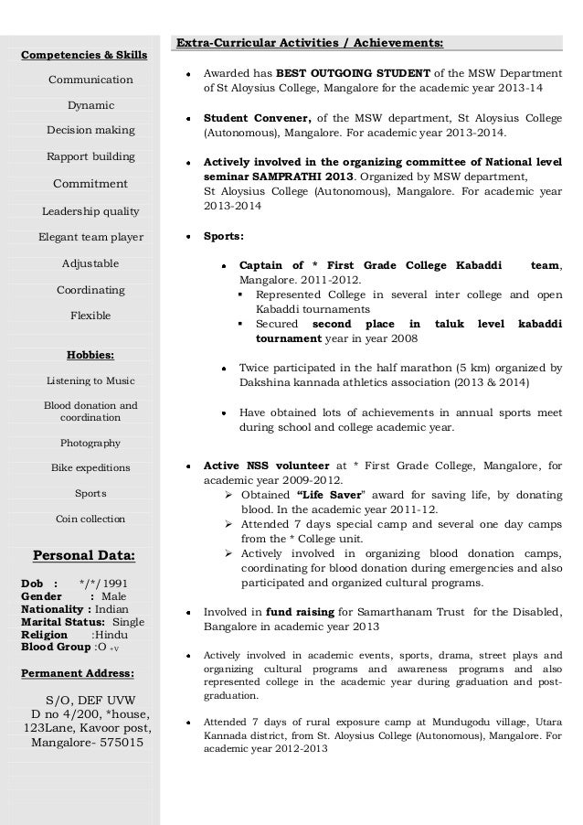 2 freshers raw resume. Resume Example. Resume CV Cover Letter