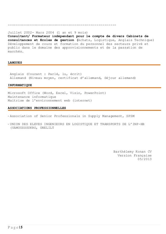 cv formateur logistique fr