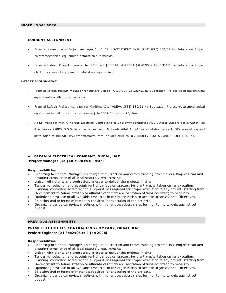 Electrical Engineer Project Manager Job Description Amazing Opportunities