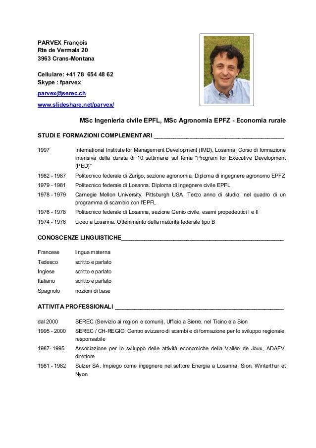 Cv Francois Parvex Italiano Serec