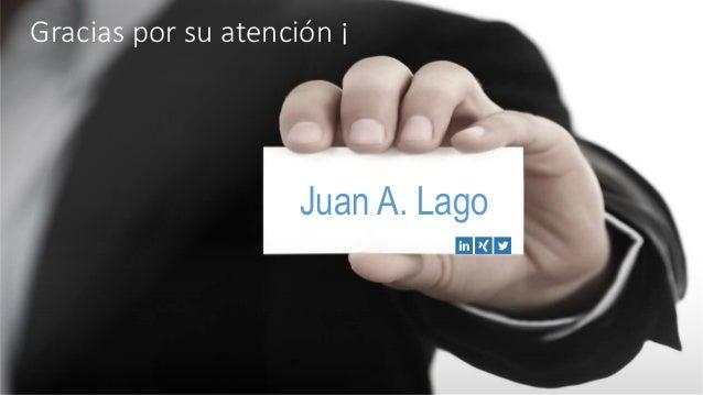 Gracias por su atención ¡ Juan A. Lago