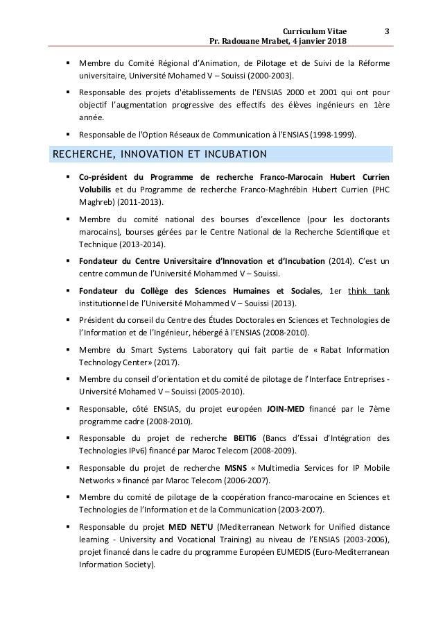 Cv Longue Version Radouane Mrabet