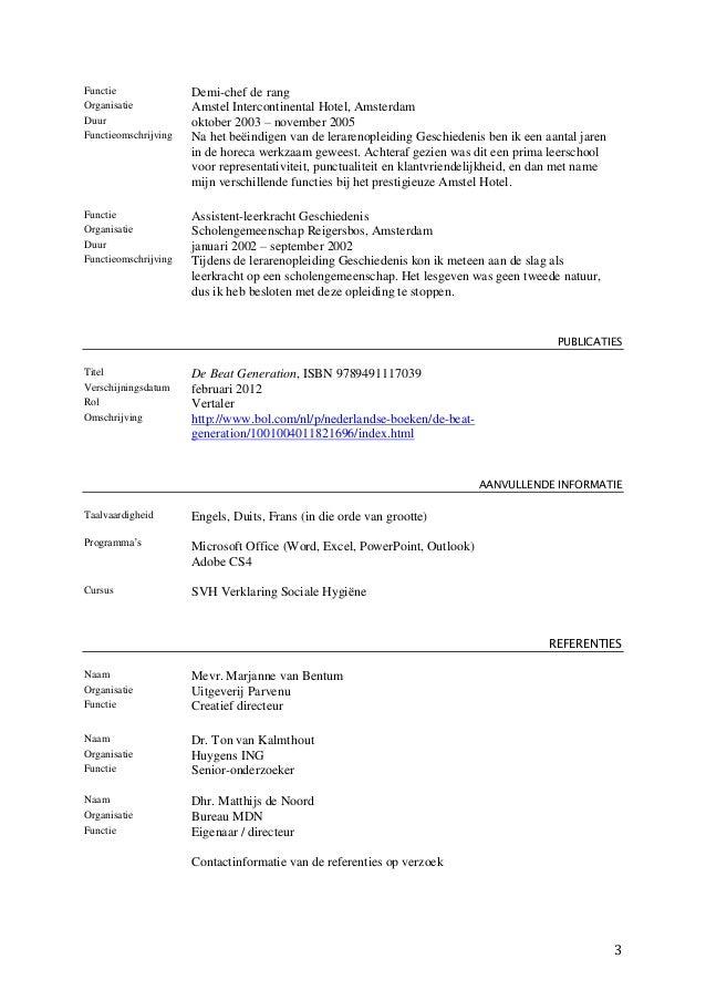 cv functieomschrijving Cv Functieomschrijving   hetmakershuis