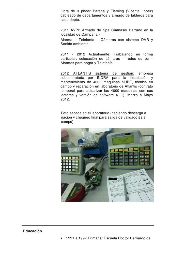 CV Guido Caballero (tecnico - instalador)