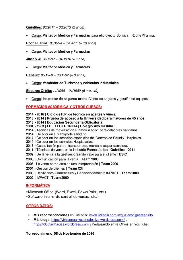 Bonito Ejemplos De Curriculum Vitae De Ventas De Dispositivos ...