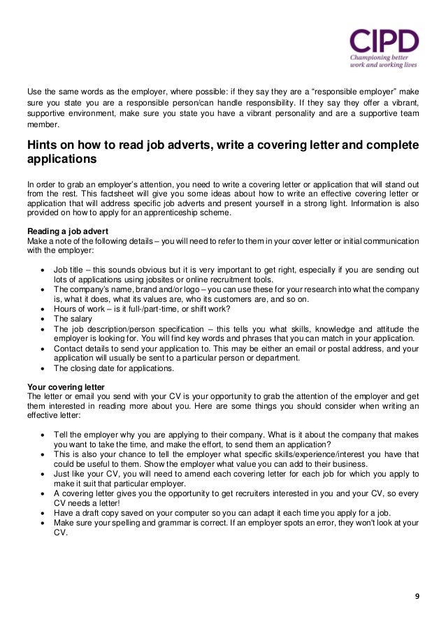 how to do a resume cover letter