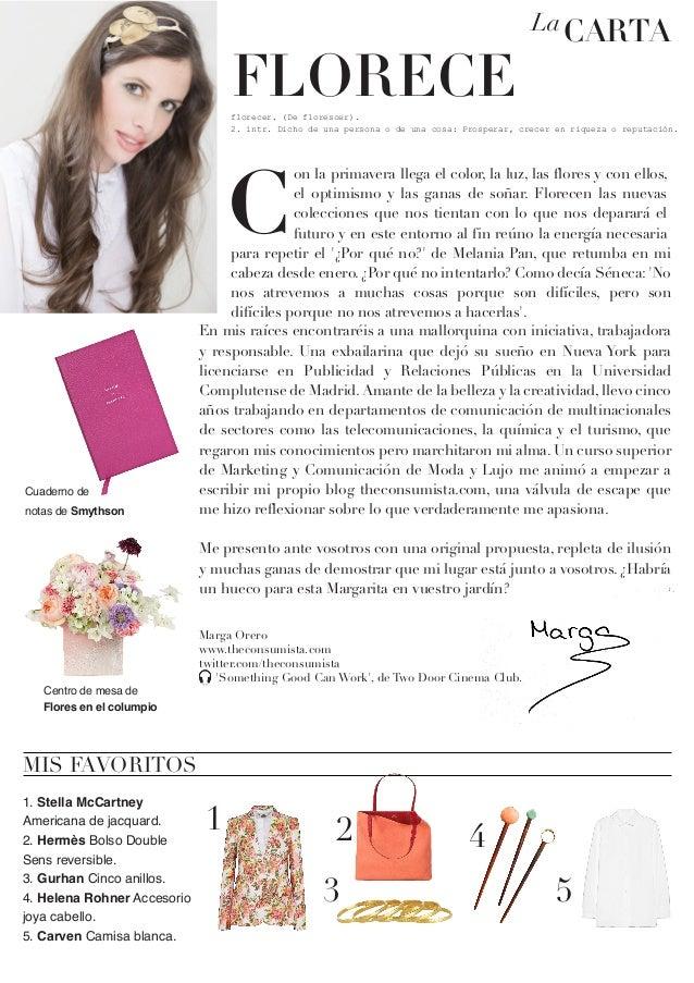 CV original para revista de moda