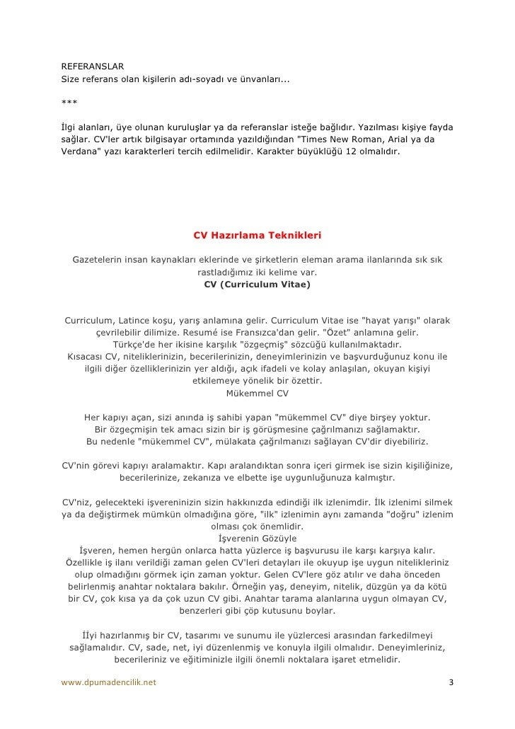curriculum vitae türkçe okunu u