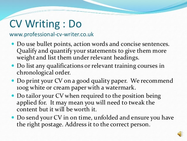 it cv writing advice