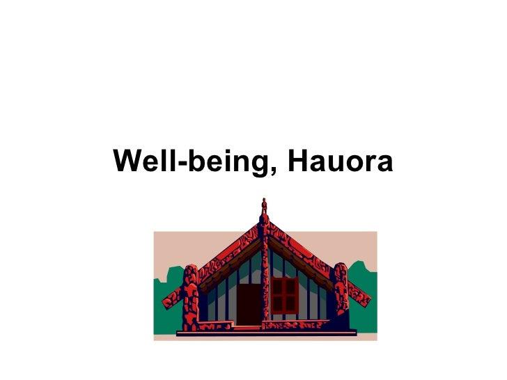 Well-being, Hauora