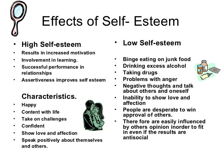 effect of self esteem on memory Depression and food unfortunately results in unhealthy eating choices people with low self esteem often use food as good and can have a lasting effect on how.