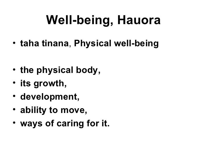 physical well being It makes the argument for the importance of physical health and well-being for the  individual and society, including its role in education outcomes the paper.
