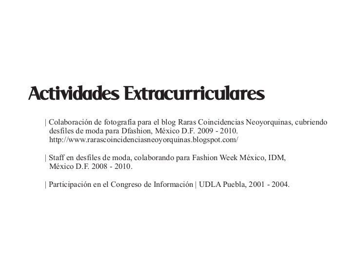 Asombroso Actividades Extra Curriculares Cv Ejemplos Ideas ...