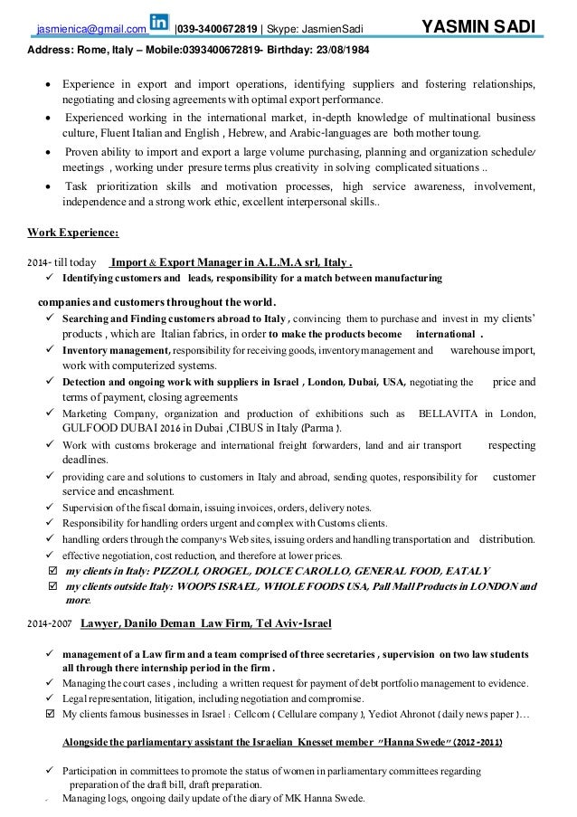 top 8 export manager resume samples 1 638jpgcb1427853611