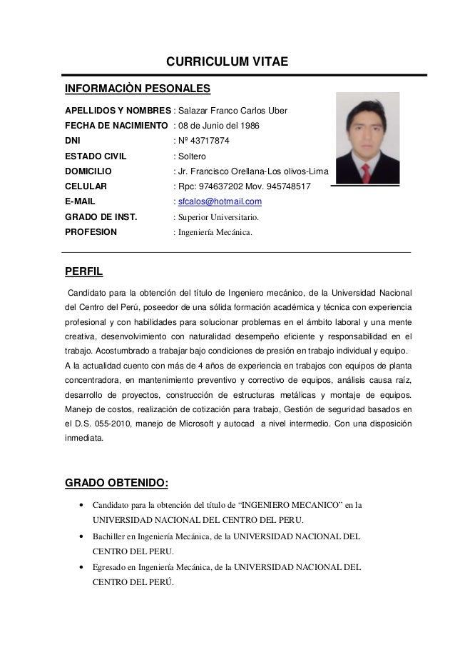 Excepcional Ingeniería Más Fresca Curriculum Vitae Viñeta ...